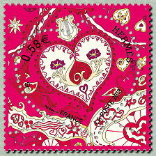 Timbre Saint Valentin 2013